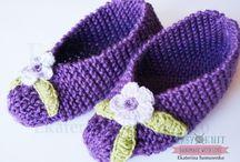 Тапочки, следки, носки вязаные