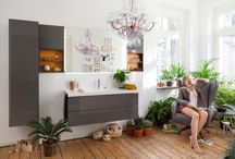 LIVING IN THE BATHROOM / Time is luxury, and luxury is for enjoying. That applies doubly to the hours of intimacy and regeneration we spend in the bathroom. Which is why we are equipping it with wall units, seat cushions, warm materials and bathroom furnishings that show barely a trace of their proximity to water.
