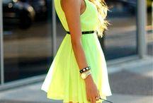 bailey's neon bday dress / by Kristi Walker