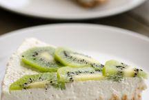 Gluten free deserts / Kiwi cheesecake