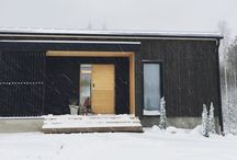 Villa Kristo | Finland / Our black wooden home from southern Finland. Oak walls with black and marble details. Floating stairs made by Grado Design