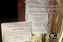 Custom Letterpress Wedding Invitations | Sunlit Letterpress / Custom letterpress wedding invitations, designed and printed in Vancouver at Sunlit Letterpress.