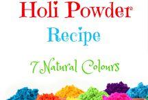 holi colors  powder