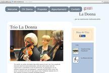 Music and Events / Web site developed for Trio La Donna!