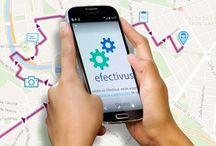 Imágenes del Sistema /  Efectivus es un framework desarrollado para trabajar 100% en movilidad y que permite coordinar remotamente el trabajo de los empleados de la empresa y mejorar notablemente la productividad de cualquier negocio. www.efectivus.com