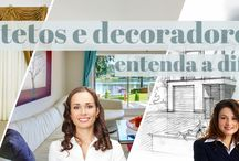 Diferença entre arquitetos e decoradores! / Veja + Inspirações e Dicas de decoração no blog!  www.construindominhacasaclean.com