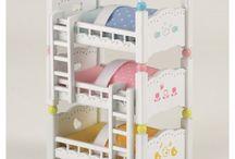 Sylvanian Families Potrójne Łóżko Piętrowe / Wyjątkowe zabawki dla dzieci marki Sylvanian Families