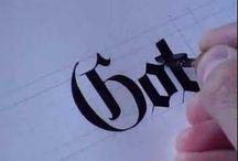 Calligraphy-Gothic, Fraktur, Black Letter / by Allene Nicolai