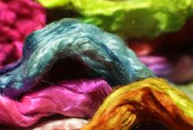 Not just dyeing yarn. / Other fibre arts products that I dye.