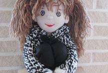 Mijn fleece en vilt creaties / Heb een leuke hobby: poppen en dieren en andere dingen maken met fleece-stof en vilt, prachtig om te doen:-)