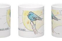 Les Mugs / Mes mugs à moi pour vous, mes dessins sur de jolis mugs en céramiques disponibles #lesibjetsdemika