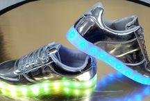 Dames Zilvere Oplaadbare Led Sneakers