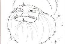 Sketch Santa Claus