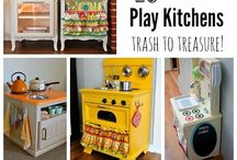 DIY play kitchen &play food