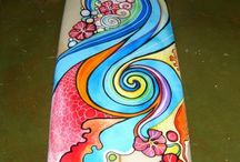 Surfboard Art and dream catchers / by mary jane schmalz