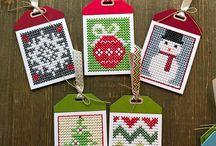 Cross stitch tag MFT, křížkové vyšívání