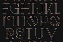 Fonts, alphabet, vector art