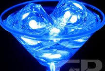 Cool Blue Glow! / Blue themed Glowing Products for the themed Glow Party or Lighted Event! Brighten the birthday party or the color themed event with fun and bright blue themed glowing items! #Blue #Glow