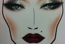 Make up face charts