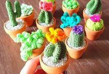 Crochet Cactus and House Plants