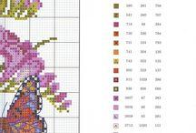 вышивка (бабочки и цветы)