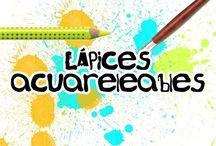 Lapices acuarelables y colores sencillos