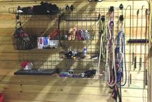 Organized Barn / Tips and ideas for managing the tack and clutter that goes along with a life lived in the barn.