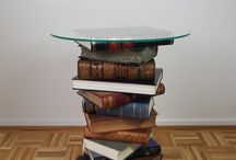 DIY side table made from old books + Tutorial