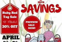 Spring into Savings! Ruby Red Tag Sale April 5-7 / Spring into Savings! Mark your calendars and discover unique antiques, vintage collectibles and jewelry at Sale prices! Shop and SAVE 30% during the Spring into Savings, 48 Hour Ruby Red Tag 30% Off Sale! The Sale begins on Tuesday, April 5, 2016 at 8am (PDT), and goes through 8am (PDT) on Thursday, April 7, 2016. Preview sale now: http://bit.ly/SMRubyRedTagSale #RubyRedTagSale Items listed are marked at 30% off during the sale. / by Ruby Lane Vintage