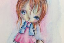 PPinky images / Ppinky rubber or digital images colored by Tammy Louise, http://handmadebytlc.blogspot.com