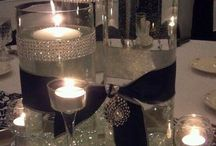 silver and black tables