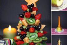Kerst / Kerstboompje van fruit