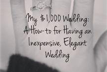 Budget wedding tips.