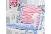 Assentos de cadeiras em crochê  da SiL
