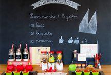 Back to school Party - Ecole / Petit goûter d'écolier ! Souvenirs ! Souvenirs !