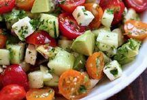 salada para desinchar