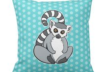 Cute Animal Pillows / Cute cartoon animal pillows collection from Zazzle. They will brighten your day and your room too. ♡ Some pillows are my own designs, some are from other talented Designers and Artists.