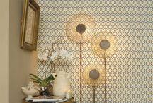 Papier peint dans la maison / La décoration intérieur du papier peint dans la maison
