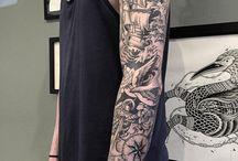 tatuering old school