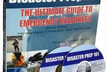 """Disaster Prep Books / Our """"Disaster Prep 101"""" preparedness education package comes with the textbook containing over 500 pages of original, innovative, and yet easy-to-follow material.  It also comes with a 2-DVD library which contains, two interactive links collections which guide you to no-cost educational sites, soft-copy versions of our 70-plus family info forms and worksheets, and a complete library of over 1,500 additional books and training manuals!"""