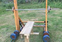 Outdoor gym / Outdoor bench press and squat stand