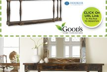 Register To Win Free Hooker Console Table From Good's Home Furnishings in Charlotte NC / Enjoy the rich beauty of Hooker Furniture available at Good's Home Furnishings in Charlotte, NC. Visit us today in our Pineville, NC Showroom and see our large selection of Hooker Furniture Consoles, Hooker Bedrooms, Hooker Dining Rooms and so much more. http://www.goodshomefurnishings.com / by Good's Home Furnishings