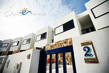 Residencial Cortijo Mar - Villa Mar Azul Puerto Calero - Lanzarote - Spain / These attractive, three story, three bedroom villas are located in the exclusive marina of Puerto Calero in a frontline position with fabulous views to the sea.