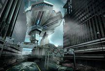 7000dc Un futuro Imaginado | 7000bc An Imaginated Future / Illustration Series by Leolux