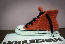 Hoodiegan Crochet Allstar Slippers