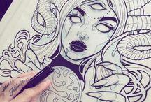 Szkice tatuaży