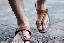 Lederen Sandalen
