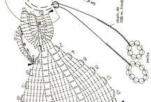 schematy lalek na szydelku