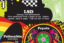 Information about Hallucinogens / Web links and infographics about the dangers of hallucinogens.