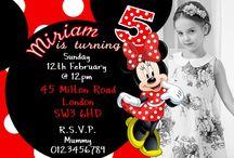 Mickey & Minnie Mouse Birthday Party Invitations / Disney Mickey & Minnie Mouse Birthday Party Invitations